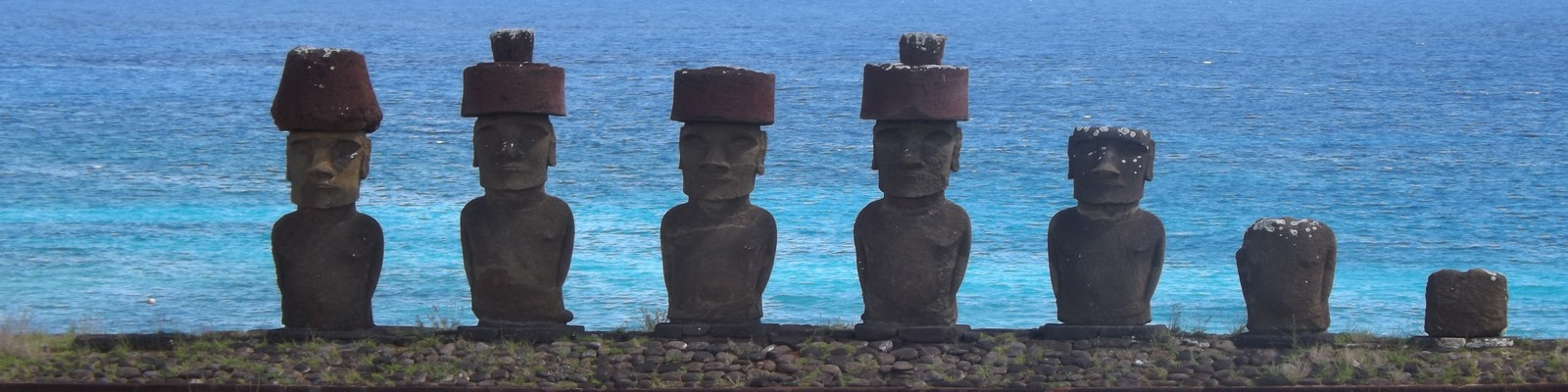 Statue Ahu Nau Nau Moais Ile de Pâques